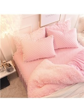 Winter_Soft_And_Warm_Pink_Thick_Plush_Mink_Wool_Bed_Skirt_4Piece_Fluffy_Bedding_Sets