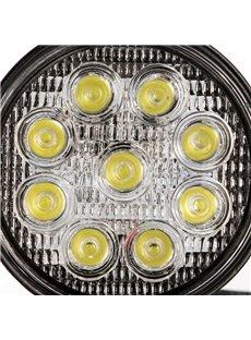 27W Round LED Work Light Off Road Driving Light Fog Light for Truck Car ATV