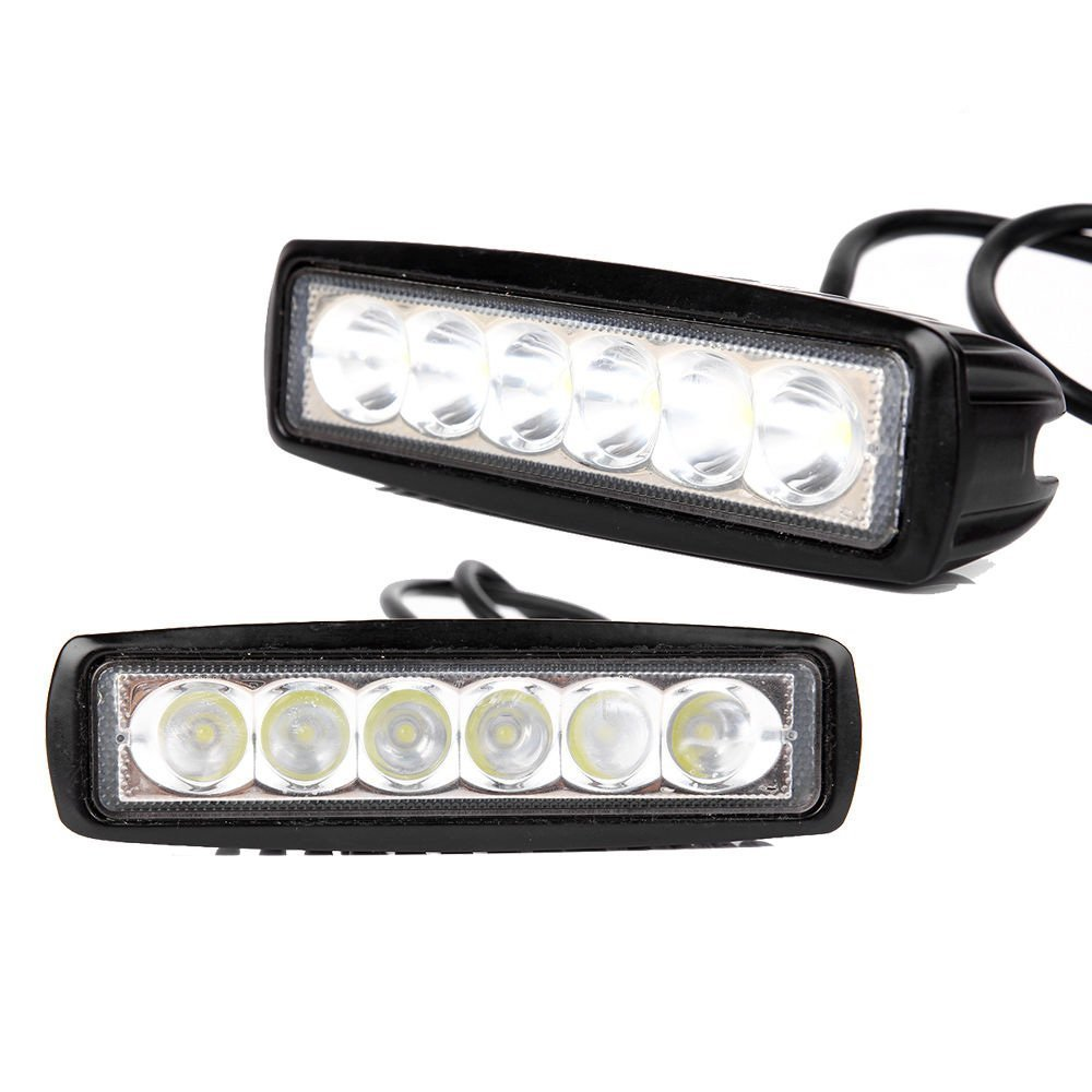2pcs 18w LED Work Light Off Road Led Lights Bar Fog Driving Bar Jeep Lamp