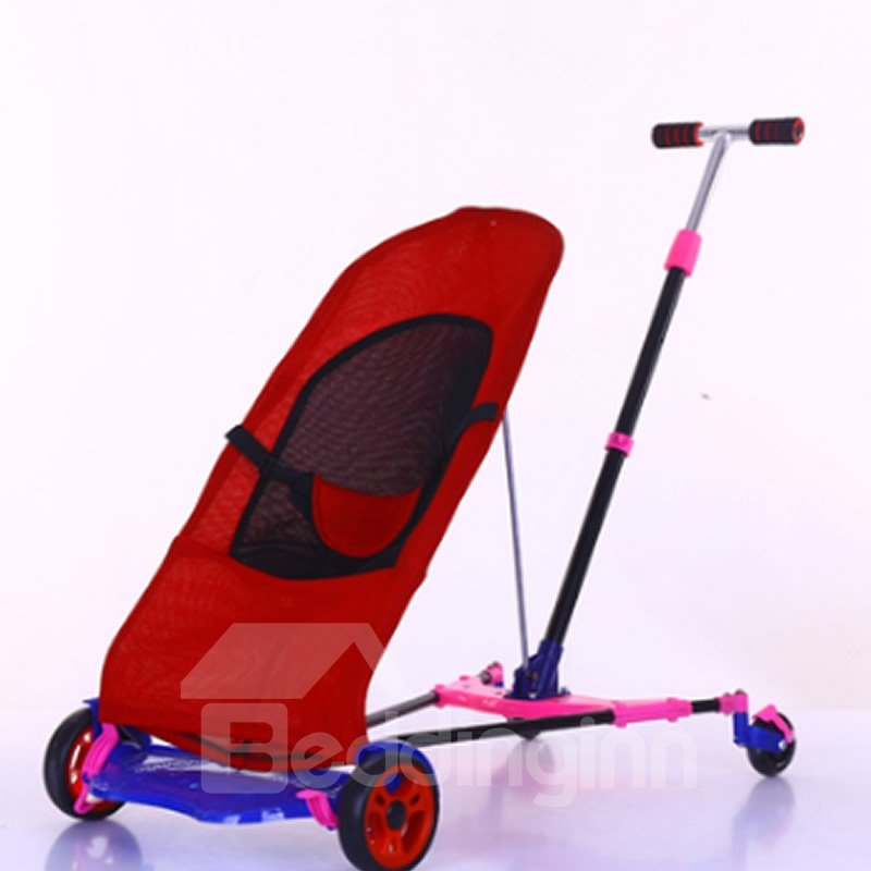 Baby Foldable Anti-shock Multi-Positon Reclining Seat Pushchair