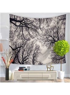 Cluster of Bald Tree Branches Pattern Decorative Hanging Wall Tapestry