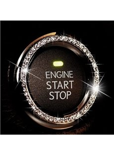 Sparkling Rhinestone Button Start Recorations