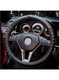 Wonderful Rivet Punk With Deep Friction Leather Steering Wheel Cover