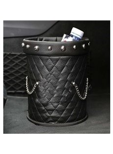 High Road Organizers Leakproof Luxurious Leather Car Trash can