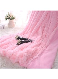 Princess_Style_Solid_Pink_Soft_and_Fluffy_Double_Layer_Throw_Blanket