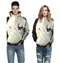 Wolf with Scar Long Sleeve 3D Pattern Hoodies