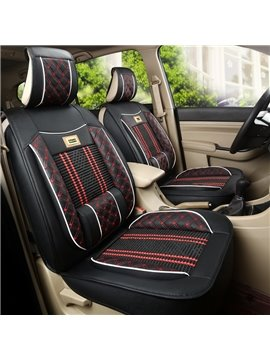 Bohemian Style Leather Knitting Mixed Front Single-seat Universal Car Seat Cover