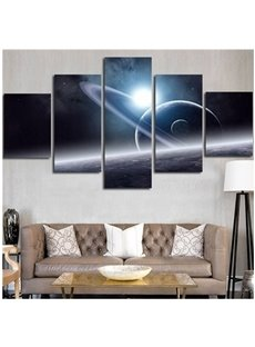 Operating Planet Hanging 5-Piece Canvas Eco-friendly and Waterproof Non-framed Prints
