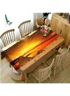 Creative and Artistic Golden Pyramid Printing Table Runner Cover Cloth