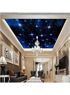 3D Galaxy Printed Waterproof Durable and Eco-friendly Ceiling Murals
