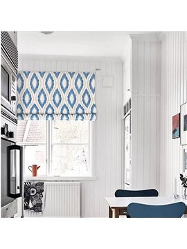 Modern and Fresh Style Geometry Patterns Printing Decorative Window Curtain Roman Shade
