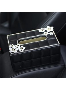 Cleanly Pure Little Daisy Flowers Design Car Tissue Box