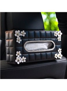 Neoteric Fashionable Dynamic With White Daisy Car Tissue Box