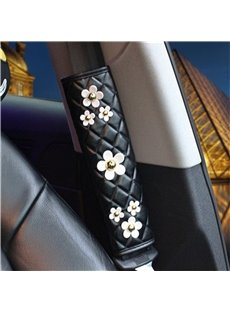 Little White Daisy Design Lovely Car Seat Belt Cover