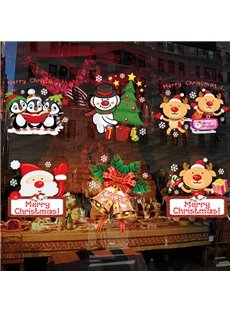 Merry Christmas Adorable Character Wall Sticker