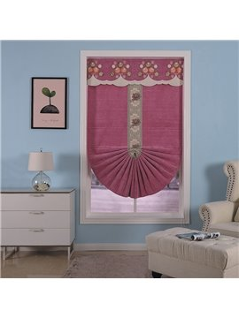 Dark Red Modern and Concise Style Beautiful Valance and Shading Cloth Roman Shades