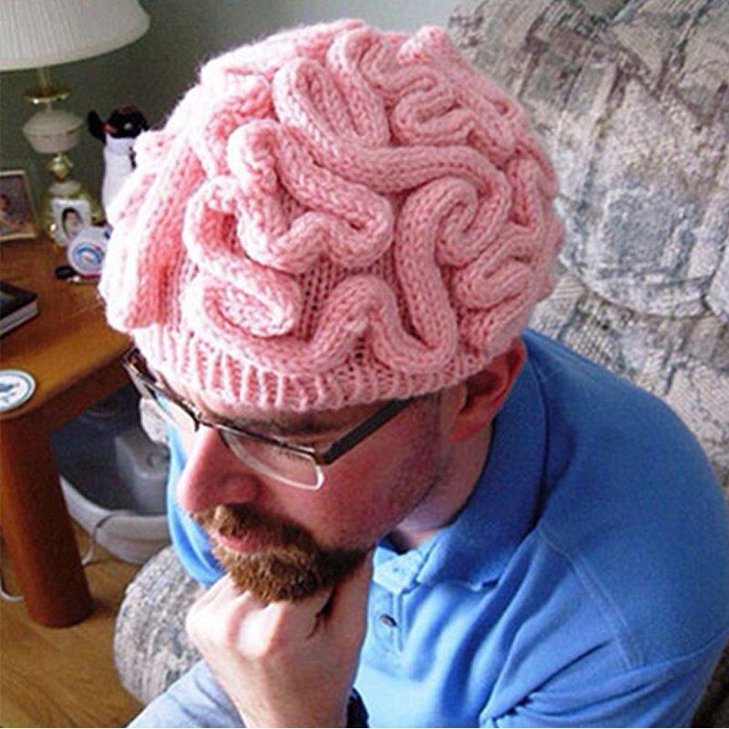Brain Shape Strange Idea Fashion Winter Warm Knitting Hat