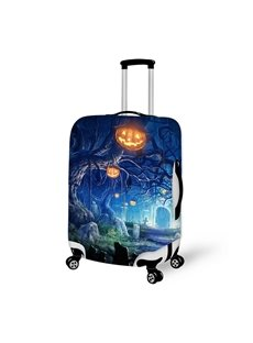 Halloween Pumpkin Tree Waterproof Suitcase Protector for 19 20 21