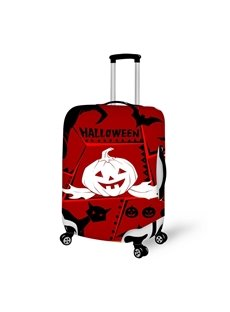 Halloween White Pumpkin Waterproof Suitcase Protector for 19 20 21