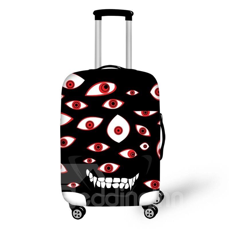 Halloween Big Eyes Evil Waterproof Suitcase Protector for 19 20 21