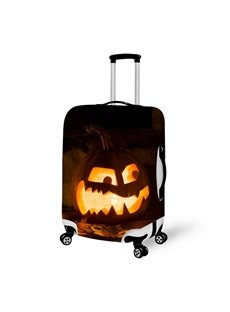 Funny Pumpkin Halloween Night Waterproof Suitcase Protector for 19 20 21