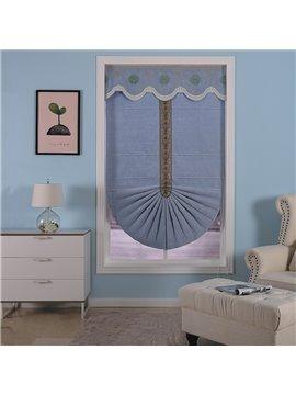Creative and Modern Blue Color Concise European Window Curtain Roman Shade