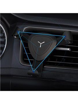 Triangular Molded Design Grappling Black Car Phone Holder