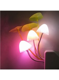 Led Night Color Changing Plug-in LED Mushroom Dream Bed Lamp