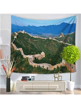 China the Great Wall World Wonders Pattern Decorative Hanging Wall Tapestry