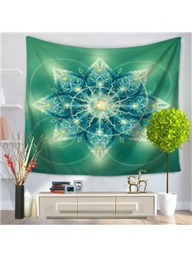 Green Leaves Mandala Pattern Exotic Style Decorative Hanging Wall Tapestry