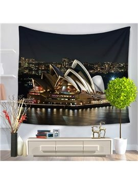 The Sydney Opera House Night Scene Decorative Hanging Wall Tapestry