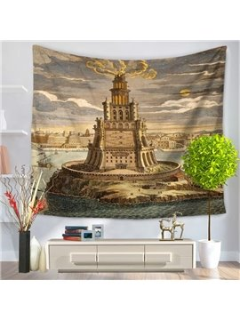 World Wonders The Pharos of Alexandria Decorative Hanging Wall Tapestry