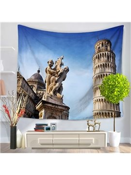 Italy Leaning Tower of Pisa Famous Tourist Attractions Decorative Hanging Wall Tapestry