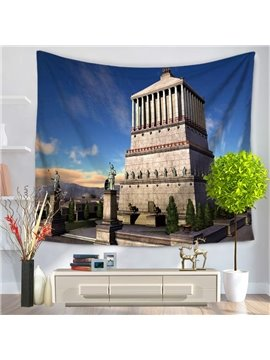 World Wonders Mausoleum of Halicarnassus Decorative Hanging Wall Tapestry