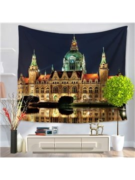 Gothic Architecture German Hanover Town Hall Decorative Hanging Wall Tapestry