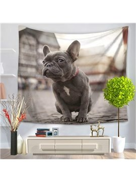 Funny and Ugly Dog Looking Aside Decorative Hanging Wall Tapestry