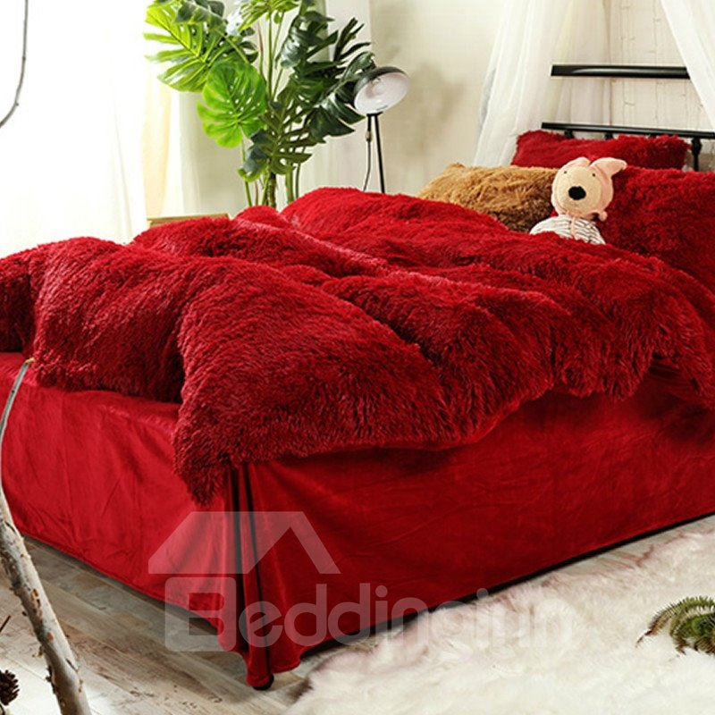 Bedding | Super | Cover | Soft | Hot | Bed | Red