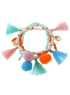 Ice Cream Color Bohemian Charm Tassel Bracelets