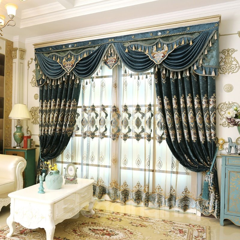 59 Luxury And Elegant Navy Blue Curtain Living Room