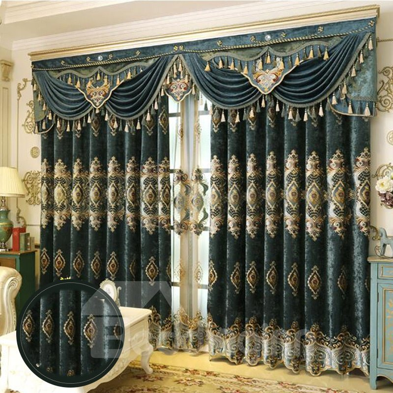 European Royal Soft Chenille Embroidery Decorative Pic