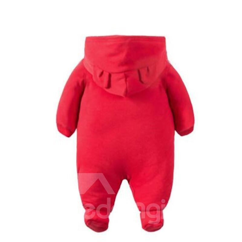 Monkey Printed Simple Style Red Baby Sleeping Bag/Jumpsuit