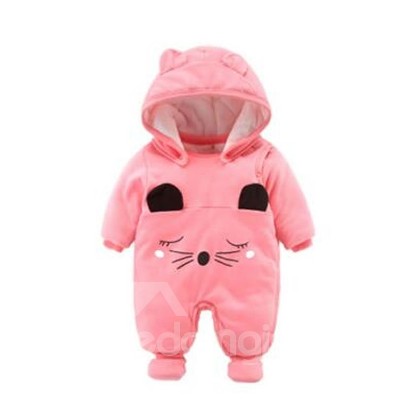 Cartoon Cotton Simple Style Pink Baby Sleeping Bag/Jumpsuit