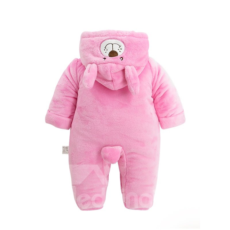 Rabbit Shape Flannel Simple Style Pink Baby Sleeping Bag