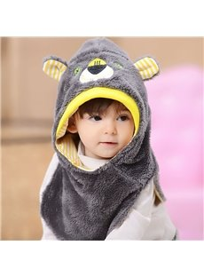 Cartoon Pattern Winter Warm Fleece Hat for Child
