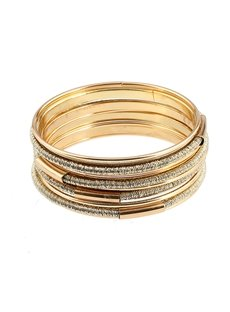 Simple Golden Fashion Stretch Bead Multilayer Bracelets for Women