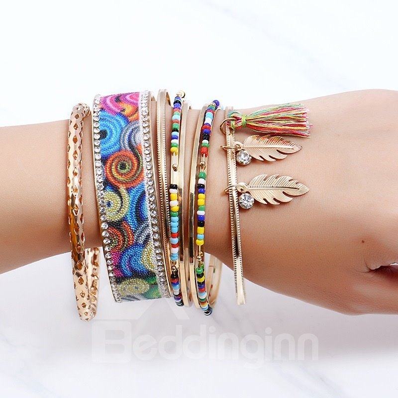 Bohemian Colorful Stretch Bead Multilayer Bracelets for Women