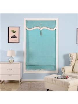 Light Green Solid Shading Cloth Modern and Pastoral Style Small Window Roman Shade