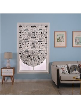 Modern and Creative Style Thick Cotton Square or Sector Window Decorative Roman Shade