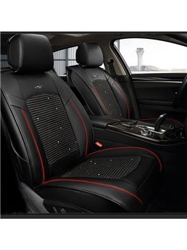 Great Protection Leather Smooth With Leather Front Single-seat Universal Car Seat Cover