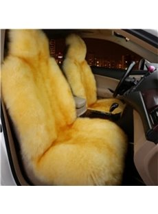 Warm Woollen Smooth Comfortable Front Single-seat Universal Car Seat Cover